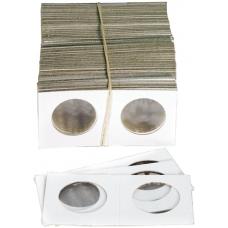 Cowens Mylar Cardboard Nickel/Quarter 1.5x1.5's 100ct Pack