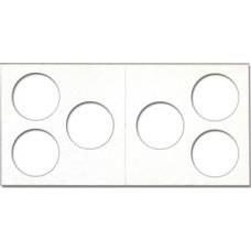 Cowens Mylar Cardboard 3 Hole 2x2's 100ct Pack