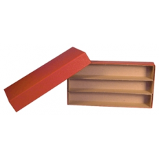 """Guardhouse - Triple Row Box - 1.5x1.5 - Red - 10"""""""