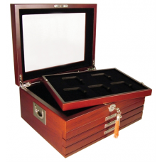 Guardhouse - Deluxe Glass Top Wood Box - 20 NGC or PCGS Slabs