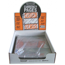 Supersafe - 100x 3 Pocket Archival Quality Large Currency Pages