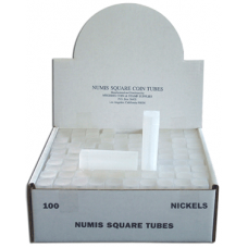 Numis - Square Coin Tube -Nickel-100/bx #2865
