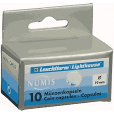 Lighthouse - 19mm - Coin Capsules - Pack of 10