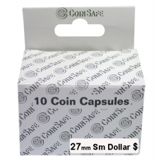 CoinSafe - 27mm Sm Dollar Coin Capsule - 10ct
