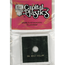 Capital Plastics Krown Coin Holder - Small Gold $ (type 1)