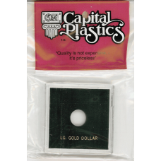 Capital Plastics Krown Coin Holder - Large Gold $ (type 2&3)