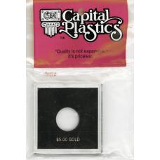 Capital Plastics Krown Coin Holder - $5 Gold