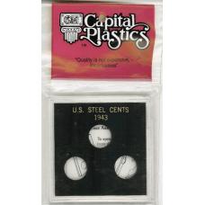 Capital Plastics - Lincoln Steel Cents 1943 - PDS - VP18