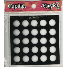 Capital Plastics - U.S. Nickels (No Dates) - Black