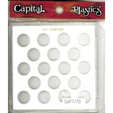 Capital Plastics - US Quarters (No Date) - White