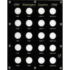 Capital Plastics - US Washington Quarters 1994-1998