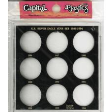 Capital Plastics U.S. Silver Eagle Year Set 1986-1994