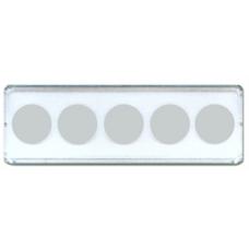 Whitman - 2x6 Nickel Strip 5 Hole Snaplock - 25ct Pack