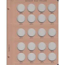 Dansco Album Kennedy Half Dollars BU Only 7166 Page #6