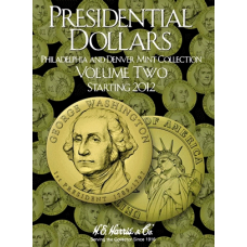 HE Harris - Presidential Dollars 2012-2016 P&D - Coin Folder