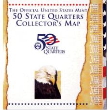 U.S. Mint - Official US Mint State Quarter Map #6695