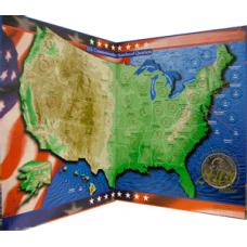 New Quarter Co - US Commemorative Quarter Map - Mount Rushmore