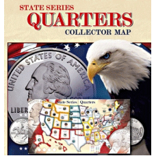 Whitman - State Quarter Series Quarters Collector Map