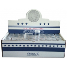 Dollar - Large Size - HE Harris Round Coin Tubes, Box of 100