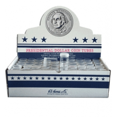 Dollar - Small Size HE Harris Round Coin Tubes 25ct, Box of 100