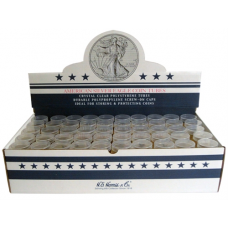 Dollar - Silver Eagle - HE Harris Round Coin Tubes, Box of 100