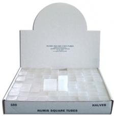 Numis Half Dollar Square Tube - 100/bx