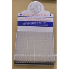 Quarter Size - HE Harris Round Coin Tubes, Box of 100