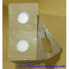 Cowens Mylar Cardboard Nickel 2x2's 100ct Pack