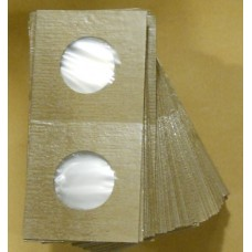 Cowens Mylar Cardboard Quarter 2x2's 100ct Pack