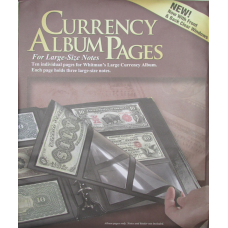 Whitman - 10 Premium Currency Album Refill Pages - Large Notes -