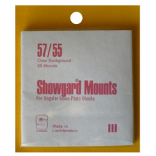 Showgard - 57/55 Showgard Plate Blocks and Covers (Clear)